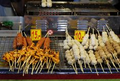 Traditional sea food in the street of Thailand.  stock photos