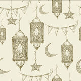 Traditional seamless background with arabic Royalty Free Stock Photography