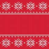 Traditional seamless knitted pattern. stock illustration