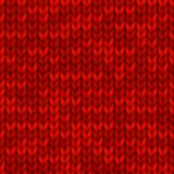 Traditional seamless knitted red pattern. Christmas and New Year design background with a place for text. Vector. Traditional seamless knitted red pattern stock illustration