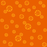 Traditional Seamless Pattern with Colorful Citruses on the Orange Background. Royalty Free Stock Image