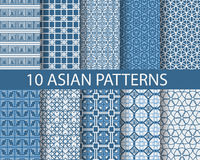 Traditional seamless patterns re Stock Photos