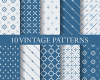 Traditional seamless patterns re. 10 traditional patterns, Endless texture can be used for wallpaper, pattern fills, web page background,surface textures Royalty Free Stock Photo