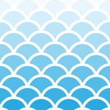 Traditional Seigaiha Japanese seamless aqua blue wave pattern. Traditional Seigaiha Japanese seamless wave pattern. Scaled at any size and used for wallpaper Royalty Free Stock Photography