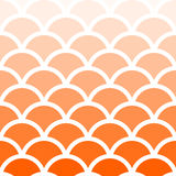 Traditional Seigaiha Japanese seamless orange wave pattern. Royalty Free Stock Photography