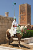 Traditional sentry at Hassan Tower, Morocco Stock Photos