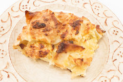 Traditional Serbian cheese pie gibanica Royalty Free Stock Images