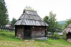 Traditional Serbian house fom XIX century, Mount Zlatibor, Serbia. Traditional Serbian house in open museum. Located at village Sirogojno, at the mount Zlatibor royalty free stock photography