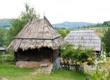 Traditional Serbian house fom XIX century, Mount Zlatibor, Serbia. Traditional Serbian house in open museum. Located at village Sirogojno, at the mount Zlatibor royalty free stock photos