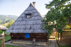 Traditional Serbian house in Kusturica Drvengrad Royalty Free Stock Photos