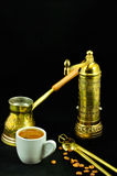 Traditional set for turkish and greek coffee Royalty Free Stock Images
