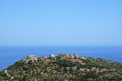 Traditional settlement of Spira in Greece Royalty Free Stock Images