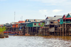 Traditional settlement at the Tonle Sap river Stock Images