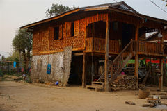 Traditional Shan house on stilts in Hsipaw Royalty Free Stock Photos