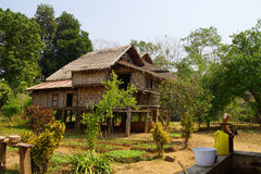 Traditional Shan house on stilts in Hsipaw Stock Photos