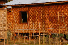Traditional Shan house on stilts in Hsipaw Stock Photography