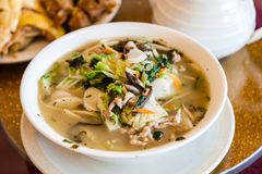 Traditional Shanghai Rice Cake Soup Royalty Free Stock Photo