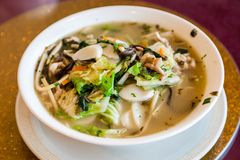 Traditional Shanghai Rice Cake Soup Stock Image