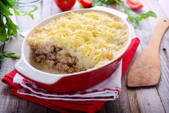 Traditional shepherd pie with meat Stock Image