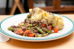 Traditional shepherd's pie Royalty Free Stock Photography