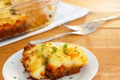 Traditional Shepherds Pie. Real comfort food - homemade shepherd pie Royalty Free Stock Photos