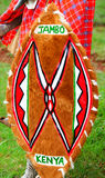 Traditional shield of Masai. Africa. Kenya royalty free stock photos