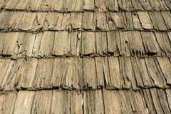 Traditional shingle roof background Royalty Free Stock Images