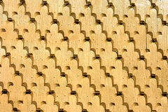 Traditional shingle wall from Romania Stock Image