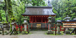 Traditional shinto architecture at Fushimi Inari shrine in Kyoto Stock Photo