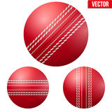 Traditional shiny red cricket ball. Vector Illustration on isolated white background vector illustration