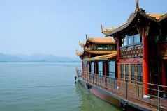 Traditional ship at the Xihu Royalty Free Stock Photo