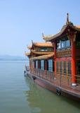 Traditional ship on the Xihu Stock Photo