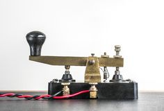 Operational Morse Code Key stock photo