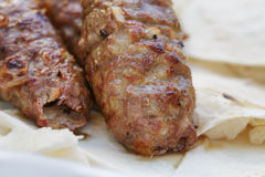 Traditional shish kebab from lamb meat Stock Image