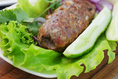 Traditional shish kebab from lamb meat Stock Photos