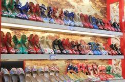 Traditional shoe shop handicraft Hangzhou China Stock Photography
