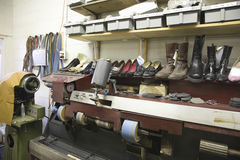 Traditional Shoemaker Workshop Stock Photos