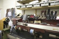 Traditional Shoemaker Workshop Stock Photos