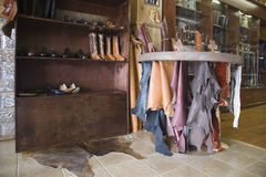 Traditional Shoemaker Workshop Royalty Free Stock Images