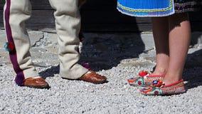 Traditional shoes , Cicmany , Slovakia Royalty Free Stock Photography