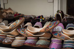 Traditional Shoes. At old market in Dubai Stock Image