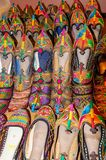 Traditional shoes of Rajasthan called Jutti for sale Stock Photo