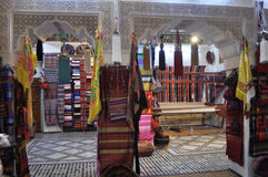 Traditional shop in Fes,Morocco Royalty Free Stock Photos