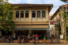 Traditional Shoplot in Cambodia Royalty Free Stock Photo