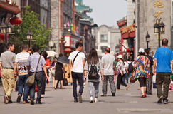 Traditional shopping street, Beijing, China Stock Images