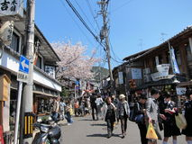 Traditional Shopping Street in Kyoto Royalty Free Stock Photo