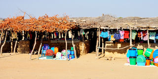 Traditional Shops in Angola, Africa Royalty Free Stock Photography