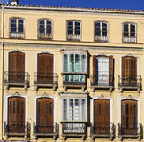 Traditional Shuttered Windows in Spain Royalty Free Stock Image