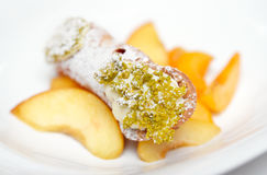 Traditional Sicilian cannoli dessert Royalty Free Stock Photos