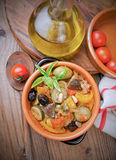 Traditional sicilian caponata recipe Stock Photo